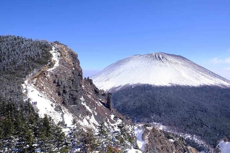 浅間山とトーミの頭