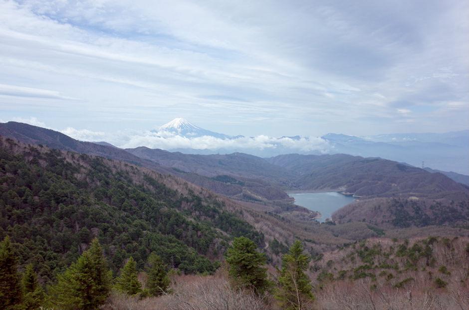 大菩薩嶺から望む富士山
