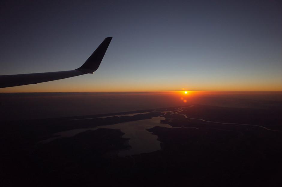 NH987便から見た2019年の初日の出