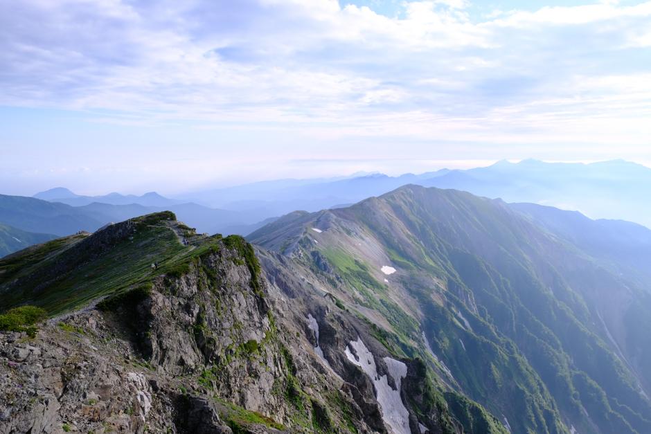 白馬岳からの稜線