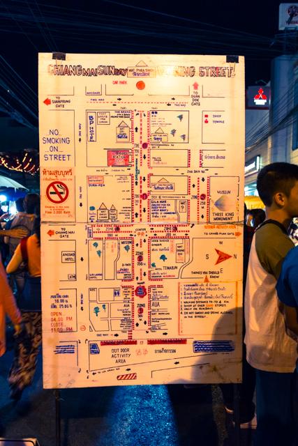 サンデー・ナイト・マーケットの地図
