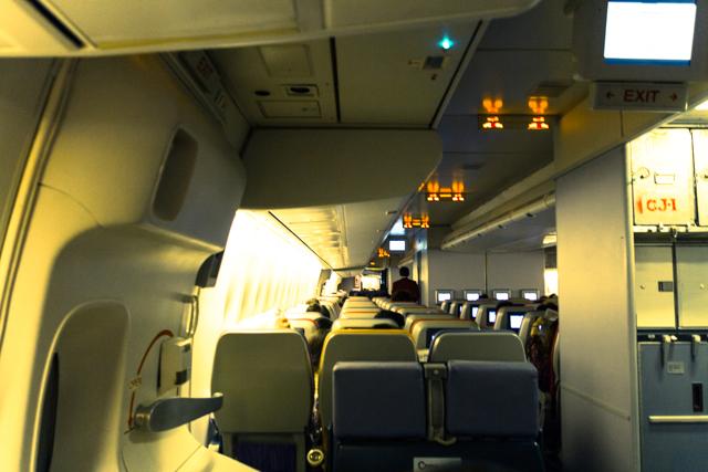 タイ国際航空のTG661の機内の様子