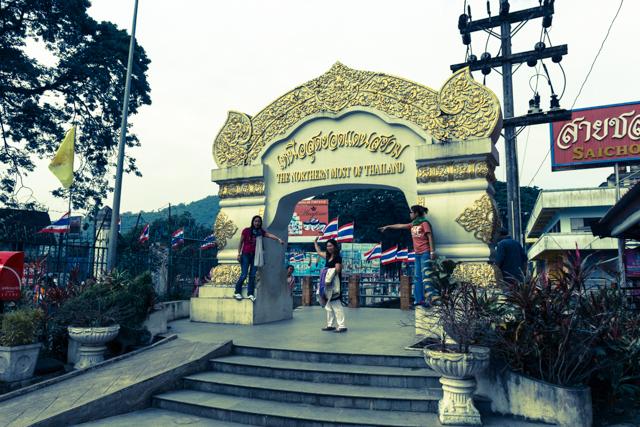 タイ最北部での記念撮影