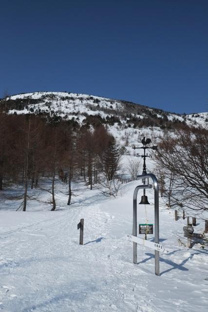 湯ノ丸山登山道の鐘分岐