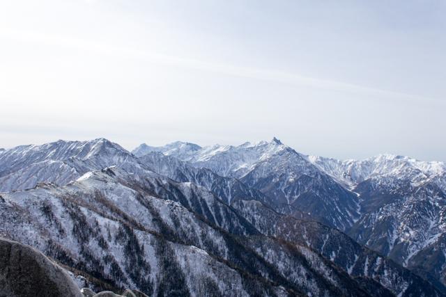 燕岳からの北アルプス