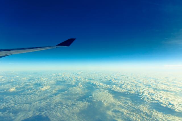 機内から見る雲海