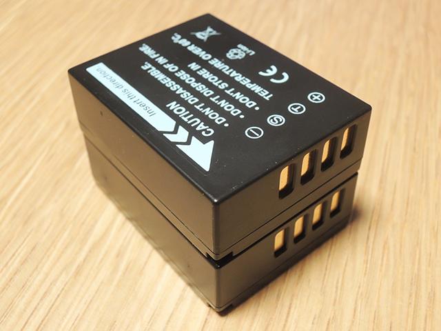 NP-W126互換バッテリーと純正バッテリー