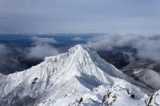 赤岳からの冬季阿弥陀岳