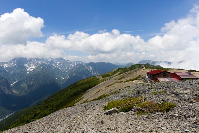 蝶ヶ岳からの景色