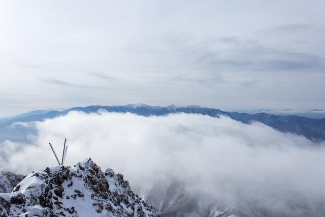 赤岳からの南アルプス