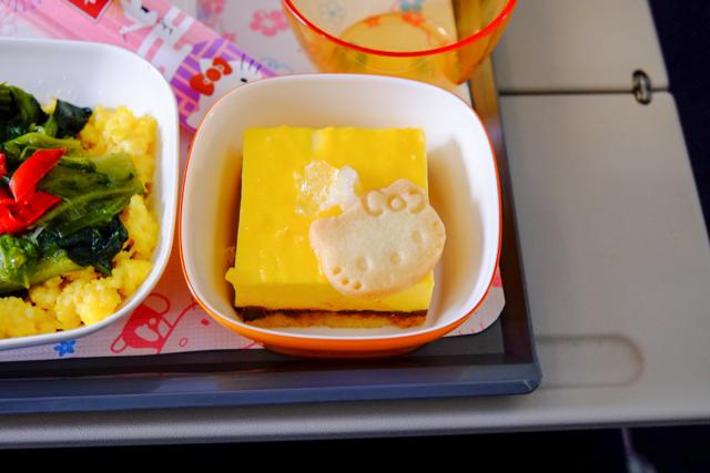 ハローキティジェットBR189の機内食