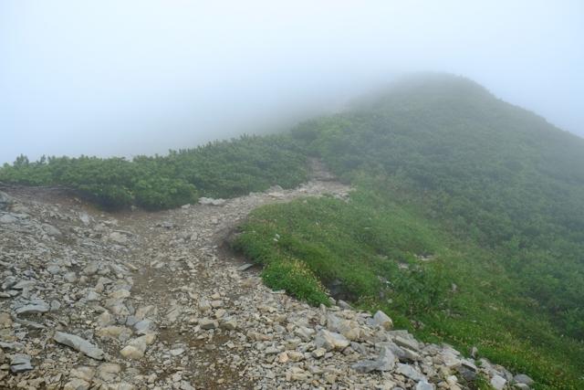 爺ヶ岳への登り