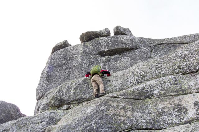 五丈岩へチャレンジ