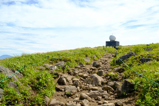 車山肩からの登山道