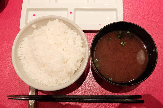串の坊のご飯と味噌汁