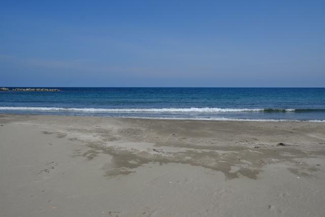 能登の砂浜