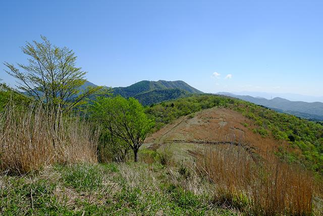 大平山山頂から石割山方面