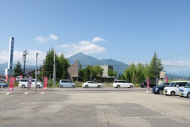 大久保商店から見た磐梯山