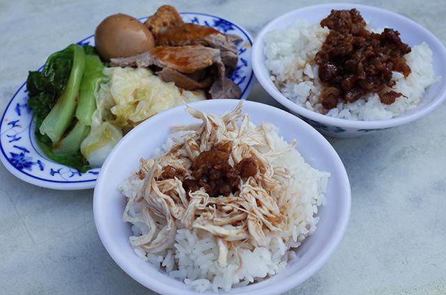 永樂担仔麺の五郎特餐と魯肉飯
