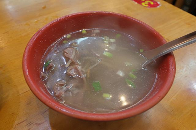 蔡家嘉義火雞肉飯の下水湯