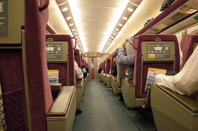 台湾新幹線ビジネスクラスの様子