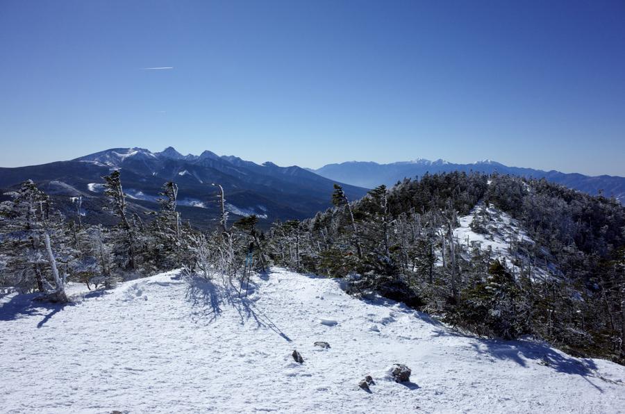 北横岳山頂からの南八ヶ岳