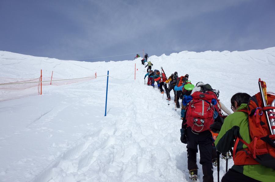 3月の谷川岳登山