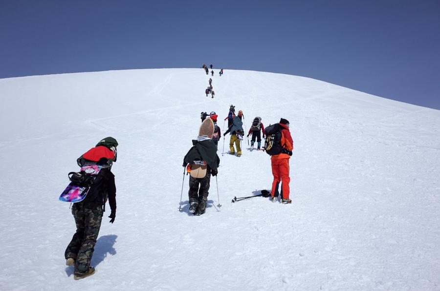 谷川岳肩ノ小屋への登り