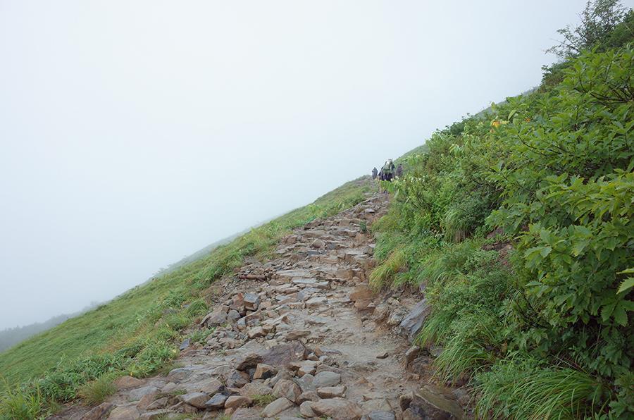 唐松岳の登山道