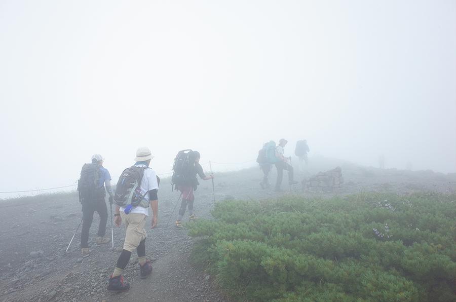 唐松岳へ登る登山者