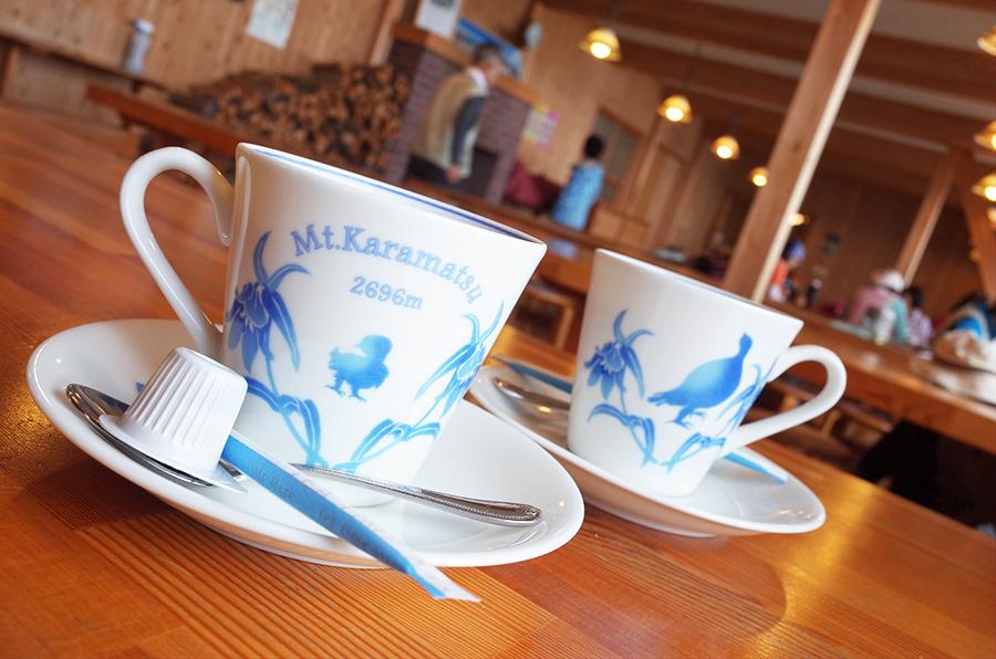 唐松岳頂上山荘のコーヒーカップ