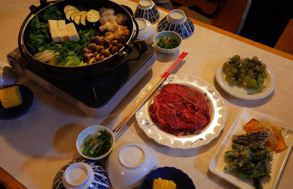 オーレン小屋の夕食