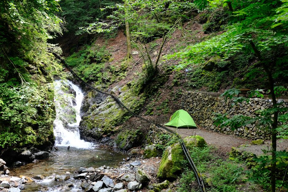 三条の湯のテント場