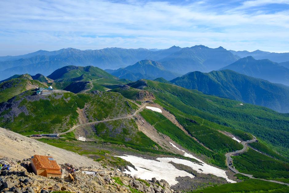 乗鞍岳剣ヶ峰からの眺め
