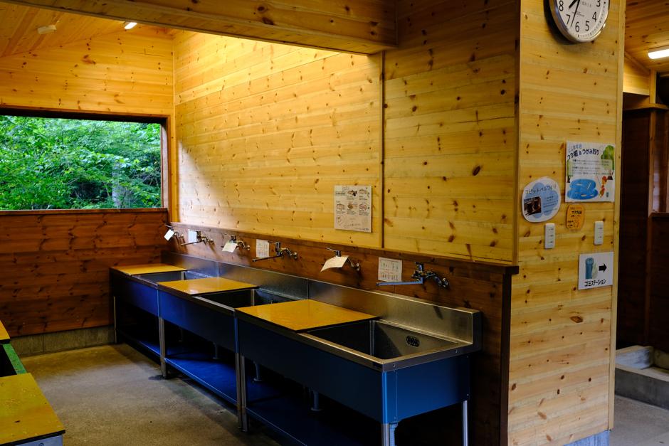 Foresters  Village  Kobitto あさぎりキャンプフィールドの流し台