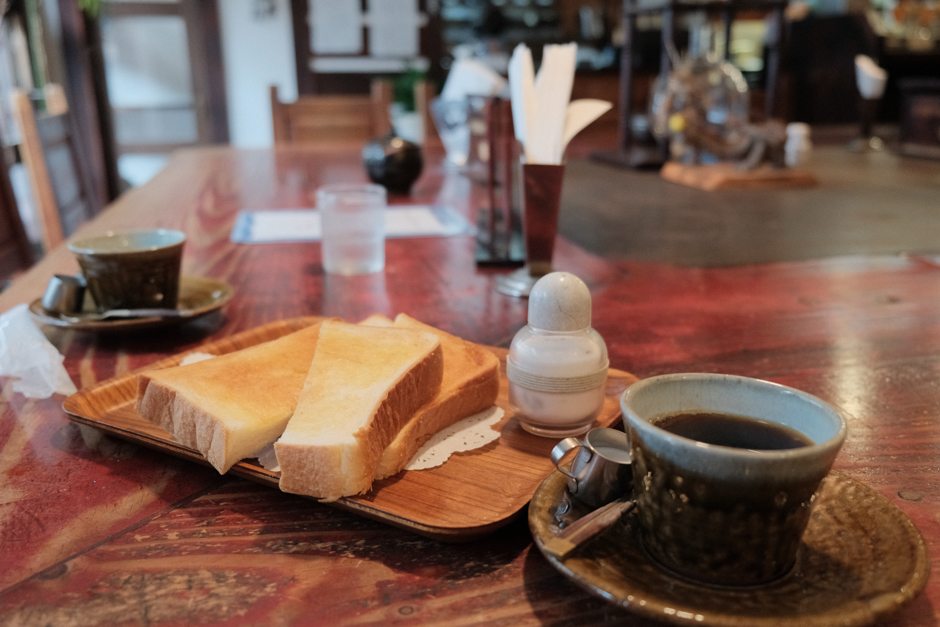 茶房三丁目のモーニングサービス